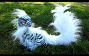 Sold poseable siberian baby tiger dragon by wood splitter lee-d6305eo