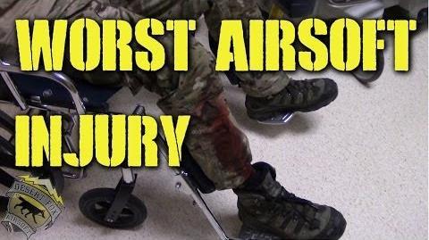 DesertFox Airsoft Worst Airsoft Injury (OPLCMSS Red Storm West 2014)