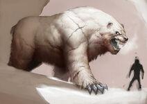 Гигантский белый медведь Аляски