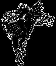 Drake på en medeltida vävnad, Nordisk familjebok