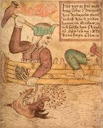 SÁM 66, 79v, Thor and Jörmungandr