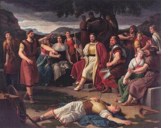 Baldr dead before the Æsir by Eckersberg