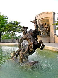Ichthyocentaurs from the Fountain of the Centaurs by AA Weinman, Jefferson City MO USA, 1927