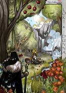 Legends iea Iðunn in garden Loki