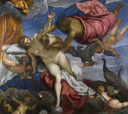 Jacopo Tintoretto - The Origin of the Milky Way - Google Art Project