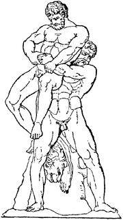 Herakles och Antaios, Nordisk familjebok