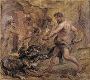 Peter Paul Rubens - Hercules and Cerberus, 1636
