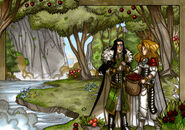 Legends Iðunn enchanted apples illustration addit by nicolasrgiacondino