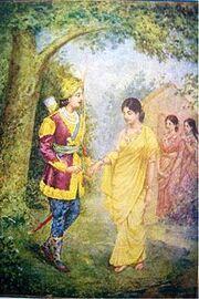 220px-1940s Vintage Hindu Print Dushyant & Shakuntala