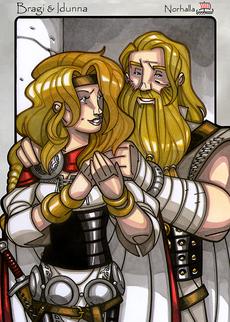 Legends iea Iðunn and Bragi