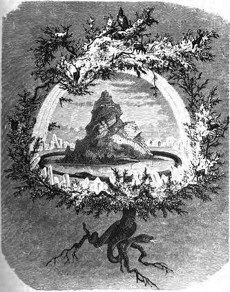 Die Eiche Yggdrasil by Friedrich Wilhelm Heine