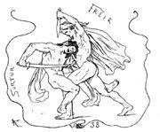 Freyr and Surtr by Frølich