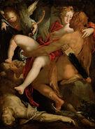 Bartholomäus Spranger - Hercules, Deianira and the Centaur Nessus - Google Art Project