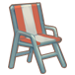 Striped Lounge Chair