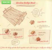 Wooden bridge head blueprint