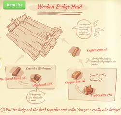 Wooden bridge head blueprint