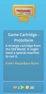 Game Cartridge Protoform - description
