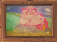 Art Pinky Cat