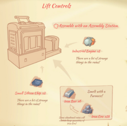 Lift controls blueprint