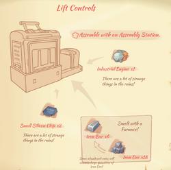 Lift controls blueprint