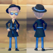 Blue Elegance Attire on male