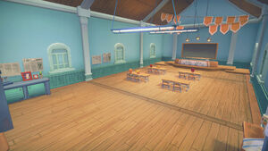 Portia School interior classroom