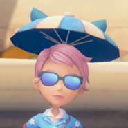 Cat Ears Umbrella Hat equipped