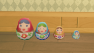 Four nesting dolls