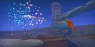 Cutscene Watching firework with Gust