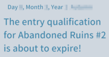 Ruin expiration