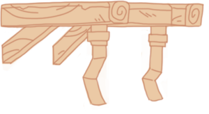 Diagram Iron Wood Support