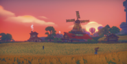 Cutscene Enjoying a Sunset with Phyllis
