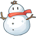 Snowman with a Red Scarf