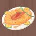 Spaghetti with Hot Sauce