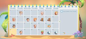Calendar in-game