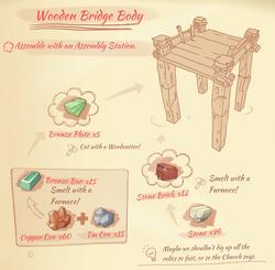 Wooden bridge body blueprint