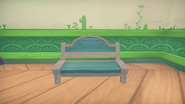 Stone Striped Wooden Bench Front A&G