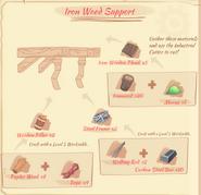 Iron Wood Support BLueprint
