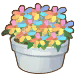 Rainbow Flower Pot