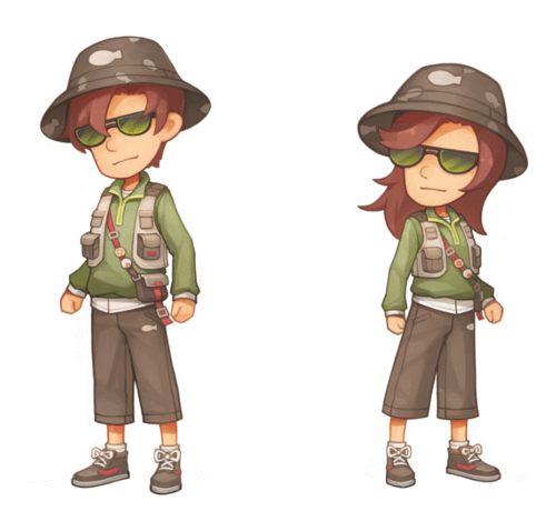 Fishing competition clothes concept