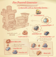 Fire Powered Generator blueprint
