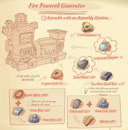 Fire Powered Generator blueprint