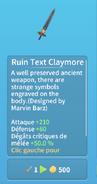 Épée claymore