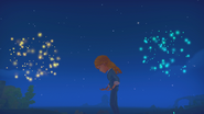 Cutscene Fireworks by the waterfall with Gust