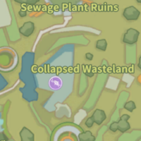 Collapsed Wasteland Fishing Spot Map