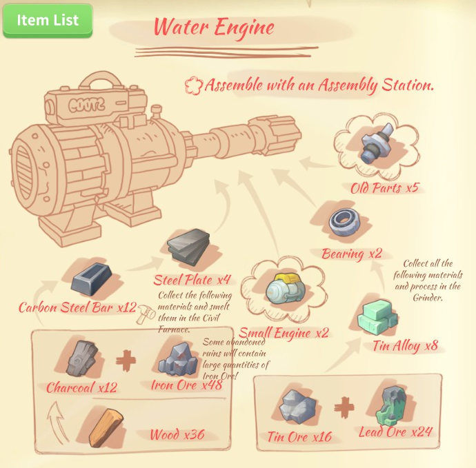 Image water engine blueprintg my time at portia wiki fandom water engine blueprintg ccuart Gallery