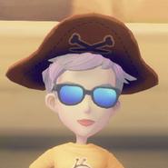 Captain's Tricorn on model