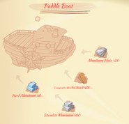 Paddle Boat Blue Print