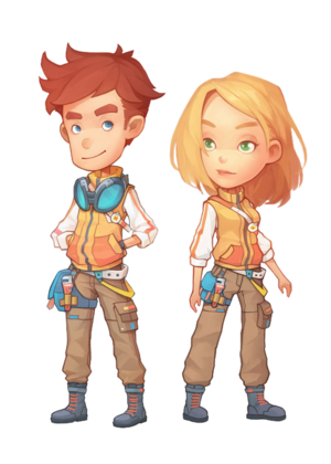 Marco and Linda - Work Clothes