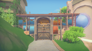 [Gate exterior]